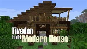 Minecraft Build - Modern House (Tiveden) - YouTube