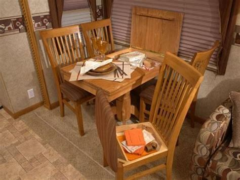 Free standing Dinette Table and Four Storage Chairs   Love