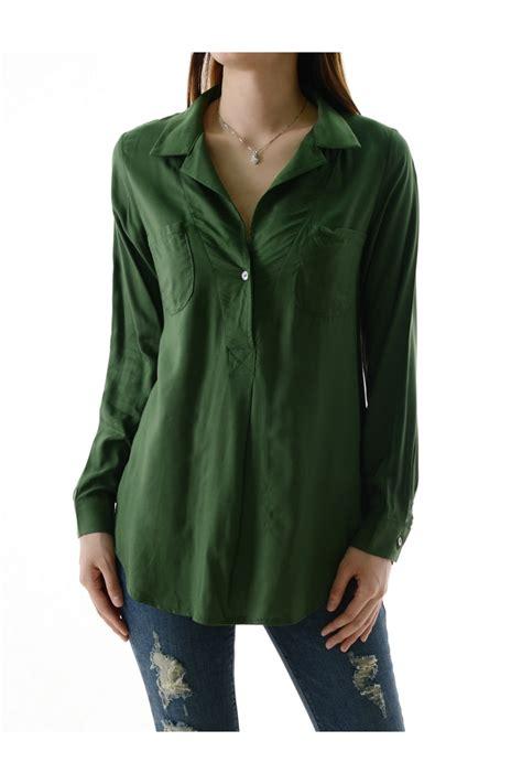 womens green blouse womens green henley shirts sleeved blouses
