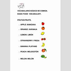 Vocabulario Básico De Comidabasic Vocabulary Of Food
