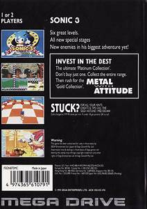 Sonic The Hedgehog 3 Box Shot For Genesis Gamefaqs