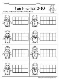 Ten Frames Kindergarten Math Worksheets