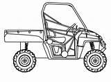 Polaris Ranger Clipart Utv Coloring Rzr Drawing Drawings Sketch Template sketch template