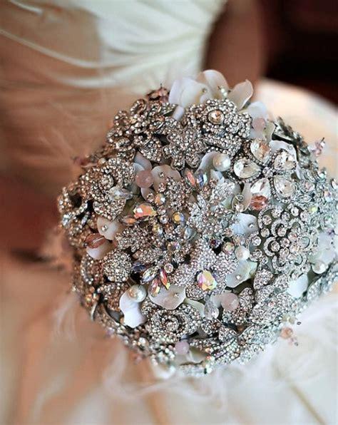Silver Color Vintage Bridal Brooch Bouquet Wedding Cake