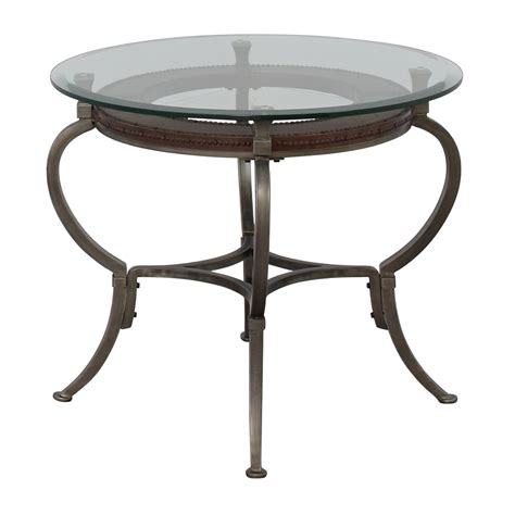 round glass table l 90 off macy 39 s macy 39 s artistica round glass and metal