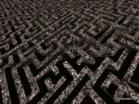 Free 3D Wallpaper 'The Maze' 800x600