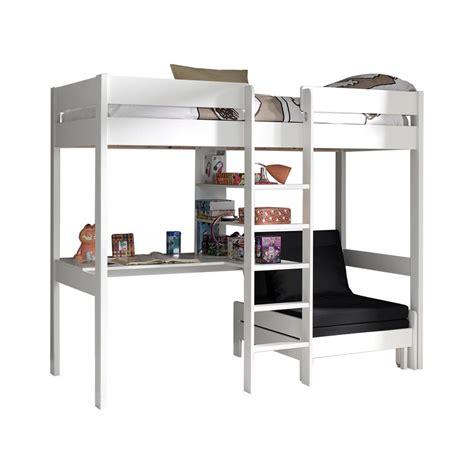 canapé bureau acheter le lit mezzanine lena blanc
