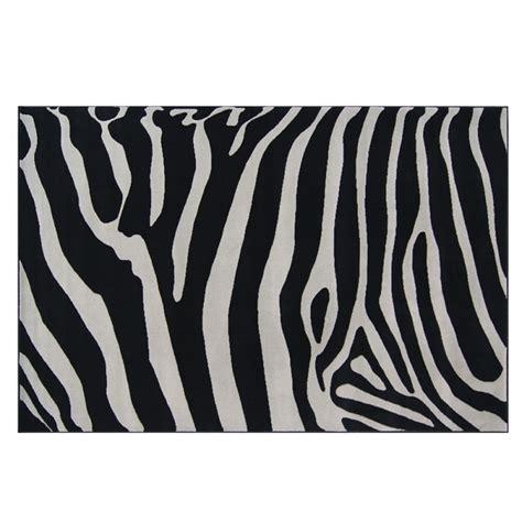 tapis design zebra noir et gris 120x170