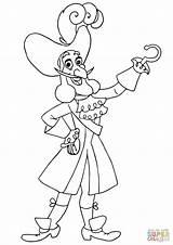 Hook Captain Jake Pirates Coloring Neverland Crochet Capitan Capitaine Pirate Colorare Coloriage Uncino Ausmalbilder Piraten Gratis Template Imprimer Sketch Disegni sketch template