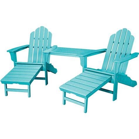 Blue Plastic Adirondack Chairs Home Depot by Lakeland Mills Tete A Tete Patio Chairs And Table Cfu129