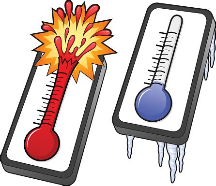 Hot And Cold Thermometers Stock Illustration - Download ...