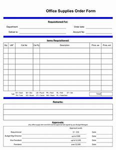 best photos of standard office supply order form office With equipment order form template