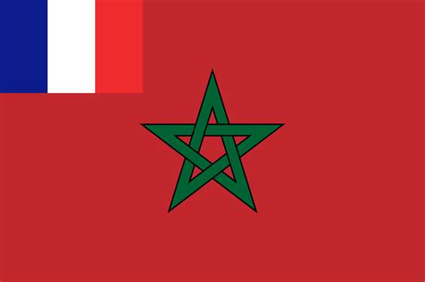 File:Flag of French Protectorate of Morocco (1912-1956 ...