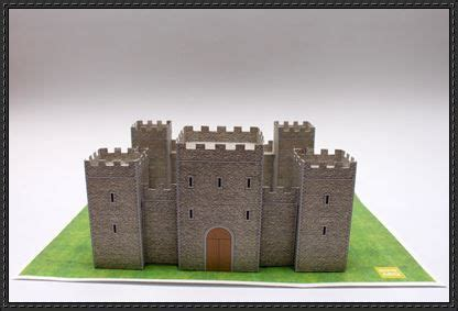 saint jordi medieval castle  building paper model