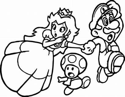 Mario Coloring Pages Paper Games Mushroom Kingdom