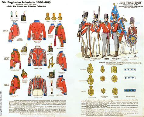 tavole dei colori colori della fanteria inglesi tavole napoleoniche dei