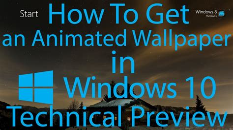 How To Make A Animated Wallpaper On Windows 7 - animated wallpaper on windows 10 60 images