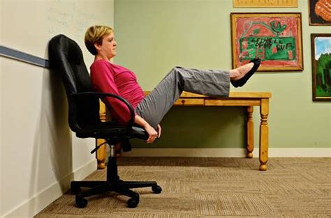chair crunch 5 chair exercises you can do in the office mnn
