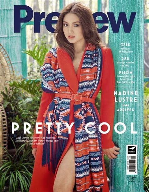 nadine lustre magazine cover nadine lustre on her quot pretty cool quot first solo mag cover