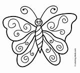Butterfly Coloring Pages Colouring Drawing Simple Printable Step Butterflies Easy Drawings Draw Nice Clipart Kindergarten Cartoon Sheets Clip Nature Pic sketch template