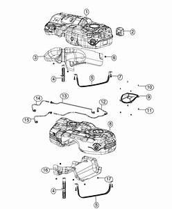 2017 Jeep Cherokee Hose  Fuel Supply  Diesel Supply Line