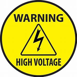 High Voltage Warning Safety Decal Pre Printed Vinyl Signage