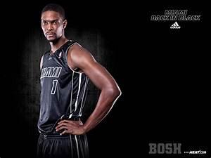 NBA Miami Heat Chris Bosh Adidas Back In Black 1600x1200 ...