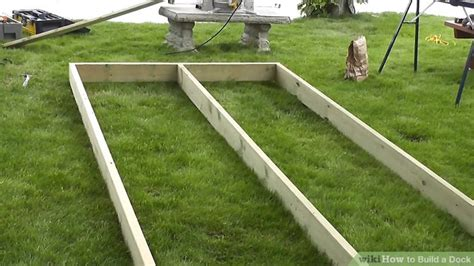 How To Build A Boat Dock Out Of Wood by How To Build A Dock 13 Steps With Pictures Wikihow