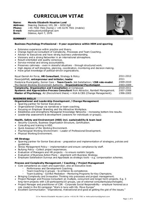 How Can I Write Cv Exles by 20130408 Eng Cv Merete Ehl