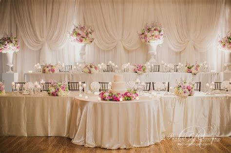 Elevated Head Table With Semi Circle Cake Table Attached