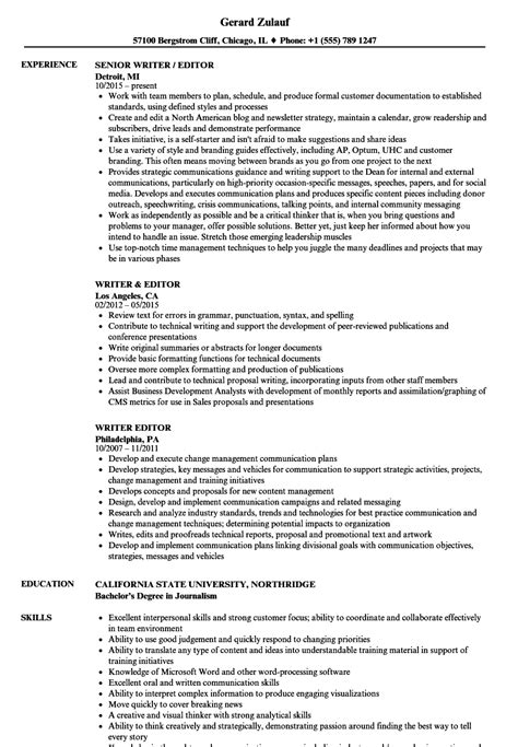 Resume Editor by Writer Editor Resume Sles Velvet