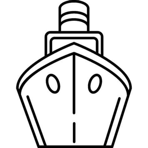 Boat Front View Drawing by Cargo Ship Front View Free Vectors Logos Icons And