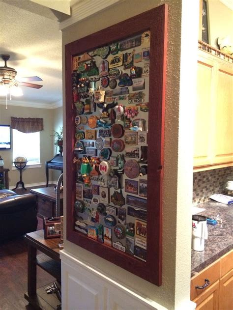 remove magnets  fridge  frame   wall decor