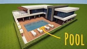 Moderne Häuser Mit Pool : gro es modernes minecraft haus mit pool bauen tutorial haus 63 youtube ~ Markanthonyermac.com Haus und Dekorationen