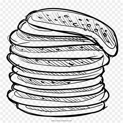 Pancake Pancakes Crepe Stack Drawing Clipart Icon
