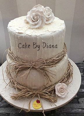 rustic wedding cakes   homespun feeling