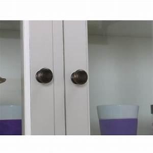 Vitrinenschrank Glas Metall : amaretta vitrinenschrank glas vitrine aufsatzbuffet buffet antik wei patiniert ~ Frokenaadalensverden.com Haus und Dekorationen