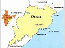 Odisha Orissa Location, Location of Odisha Orissa