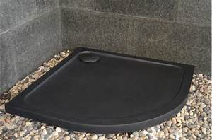 Receveur Douche Couleur : receveur de douche en pierre noire 1 4 rond 90x90 lagoon ~ Edinachiropracticcenter.com Idées de Décoration