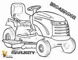 Coloring Tractor Mower Lawn Simplicity Sheet Pages Tractors Broadmoor Garden Template Boys Yescoloring Brawny sketch template