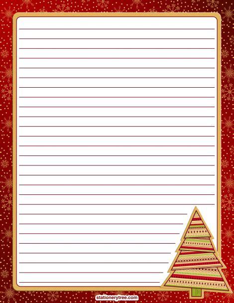 printable christmas stationery  writing paper