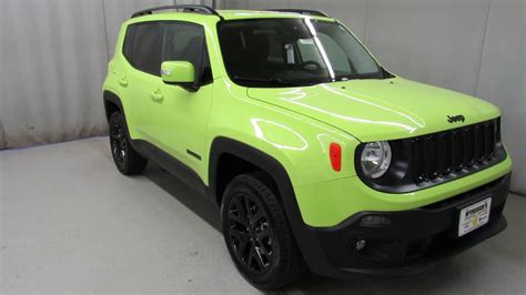 hyper green jeep 2017 jeep renegade hyper green latitude 14564 youtube