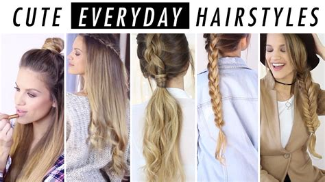 Hairstyle Ideas by Everyday Hairstyle Ideas 5 Days Of Hair Inspo
