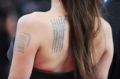 Tatouage Angelina Jolie Dos Et Bras Tuxboard
