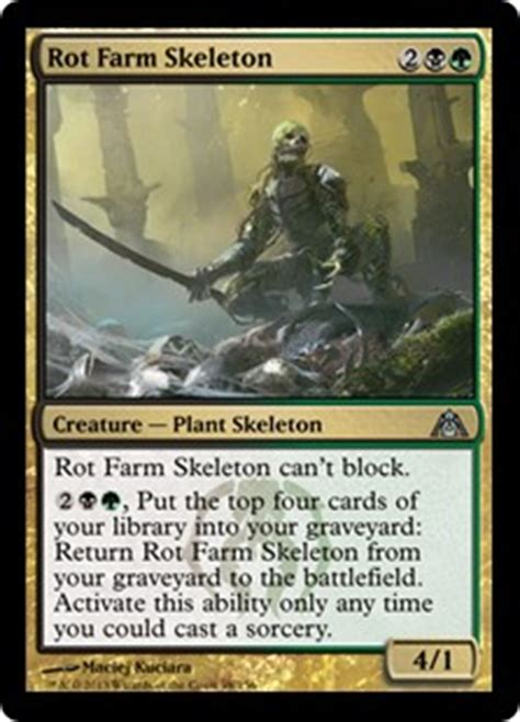 mtg skeleton edh deck rot farm skeleton s ability can only be activated from the