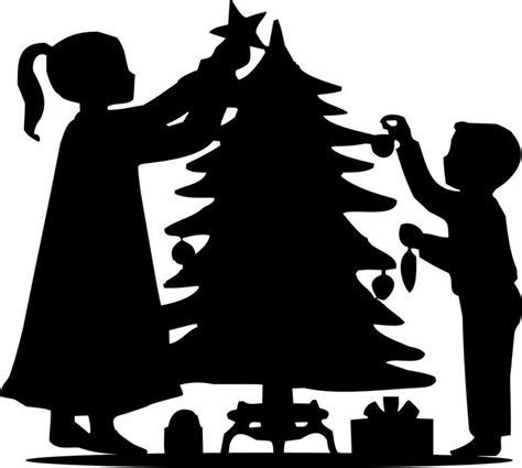 best 25 christmas silhouettes ideas on pinterest