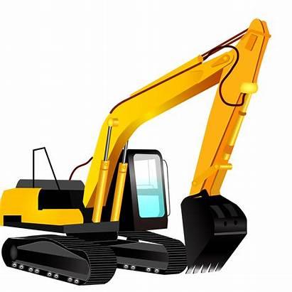 Excavator Clipart Vector Bulldozer Caterpillar Backhoe Silhouette