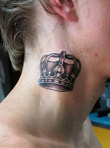 Crown Side Neck Tattoo Design for Girls 2011-2012 - ShePlanet