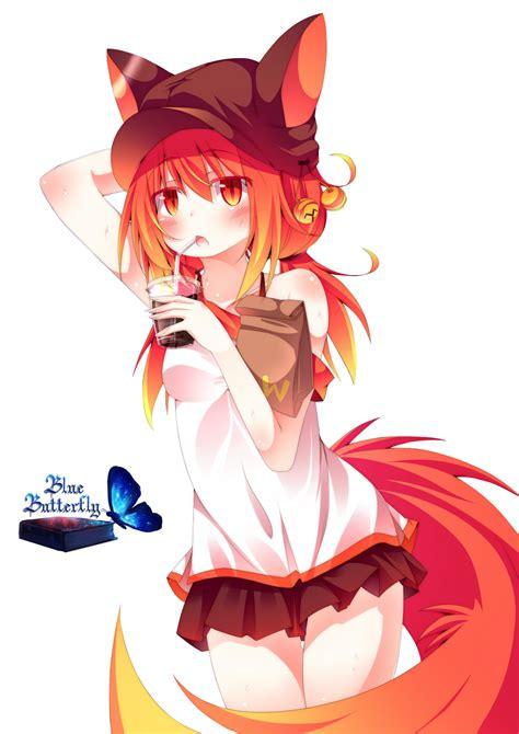 Cute Anime Blue Fox