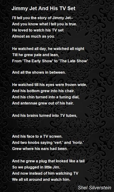 jimmy jet   tv set poem  shel silverstein poem